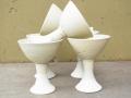 Ash glazed Goblets