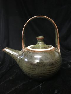 Teapot - Teadust glaze, ceramic handle