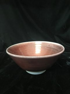Bowl - Copper red glaze on porcelain body