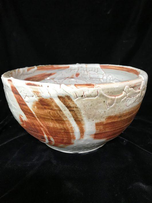 Bowl - Shino glaze, alligator skin type