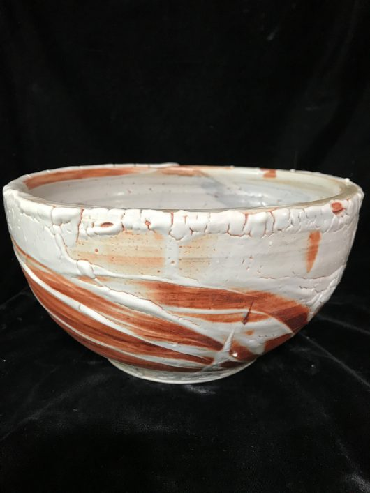 Bowl - Shino glaze, alligator skin type