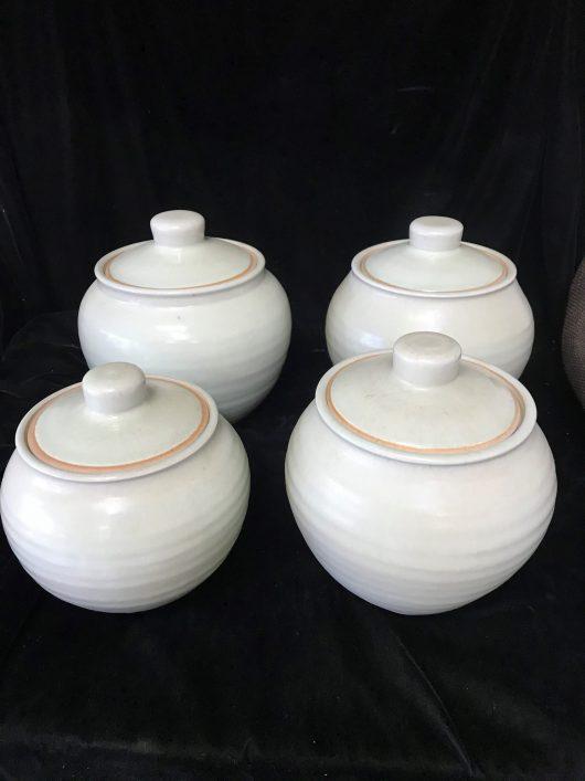 Set of 4 Jars - Chun glaze